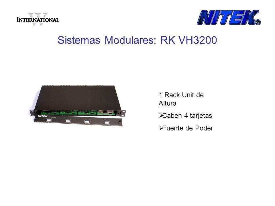 Sistemas Modulares: RK VH3200 1 Rack Unit de Altura Caben 4 tarjetas Fuente de Poder