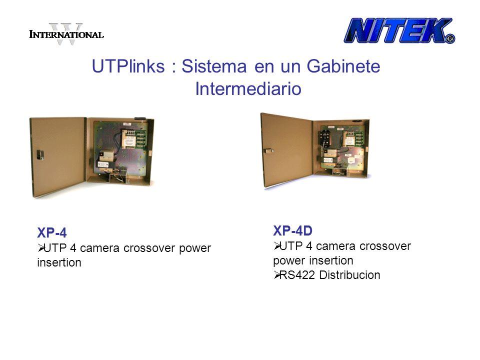 XP-4 UTP 4 camera crossover power insertion UTPlinks : Sistema en un Gabinete Intermediario XP-4D UTP 4 camera crossover power insertion RS422 Distrib