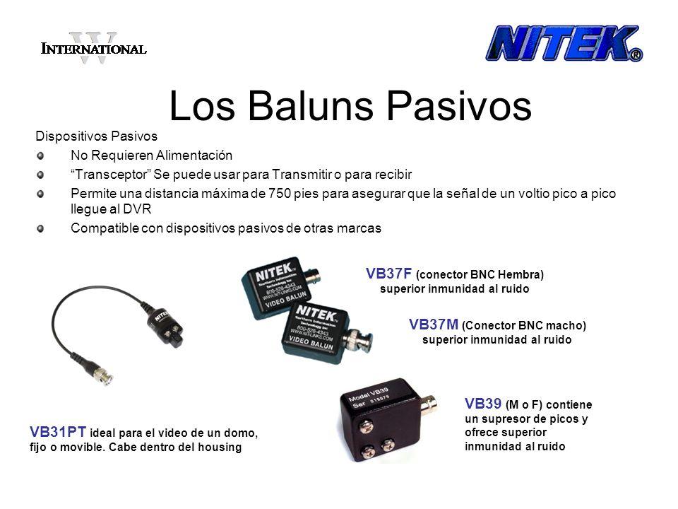 Los Baluns Activos Receptores Activos A través de un diseño avanzado de electronica, los productos activos de NITEK proveen inmunidad al ruido, ground loops y picos de voltaje.