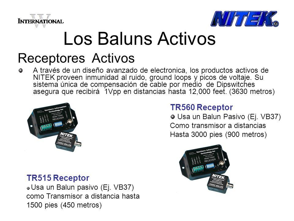 Los Baluns Activos Juegos TX y RX Activos A través de un diseño avanzado de electronica, los productos activos de NITEK proveen inmunidad al ruido, ground loops y picos de voltaje.