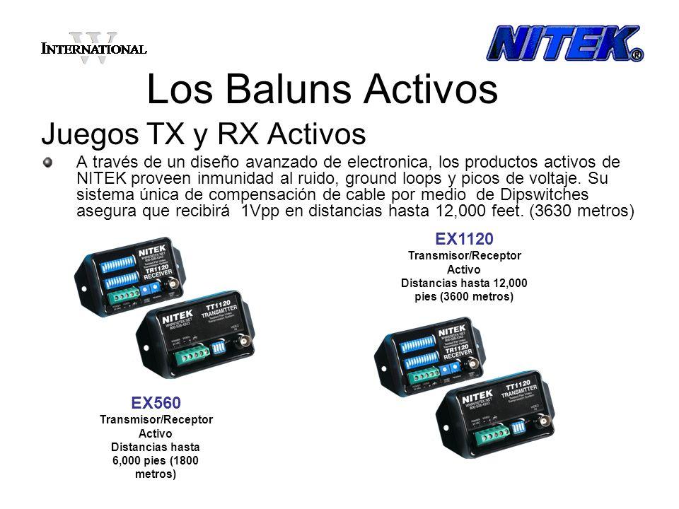 Los Baluns Activos Juegos TX y RX Activos A través de un diseño avanzado de electronica, los productos activos de NITEK proveen inmunidad al ruido, gr
