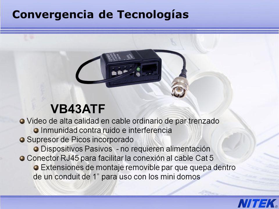 VB43ATF Video de alta calidad en cable ordinario de par trenzado Inmunidad contra ruido e interferencia Supresor de Picos incorporado Dispositivos Pas