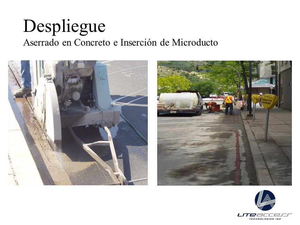 Despliegue Aserrado en Concreto e Inserción de Microducto