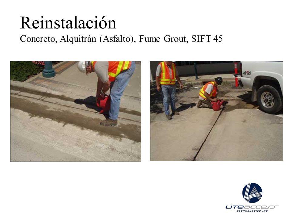 Reinstalación Concreto, Alquitrán (Asfalto), Fume Grout, SIFT 45