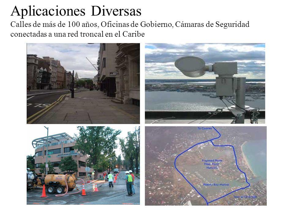 Aplicaciones Diversas Calles de más de 100 años, Oficinas de Gobierno, Cámaras de Seguridad conectadas a una red troncal en el Caribe