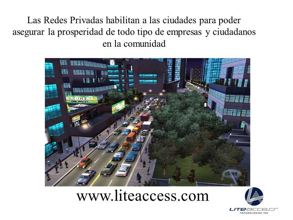 Las Redes Privadas habilitan a las ciudades para poder asegurar la prosperidad de todo tipo de empresas y ciudadanos en la comunidad www.liteaccess.co