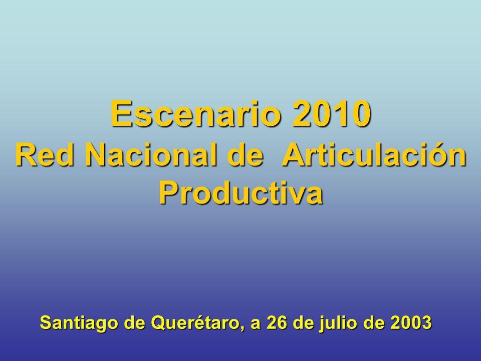 Escenario 2010 Red Nacional de Articulación Productiva Santiago de Querétaro, a 26 de julio de 2003