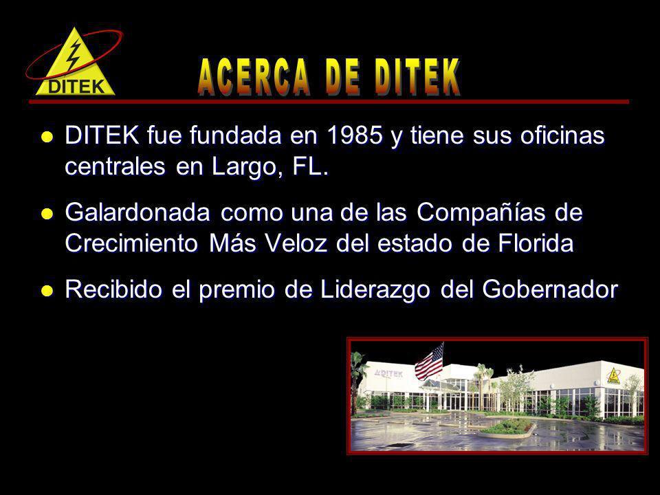 DITEK fue fundada en 1985 y tiene sus oficinas centrales en Largo, FL.