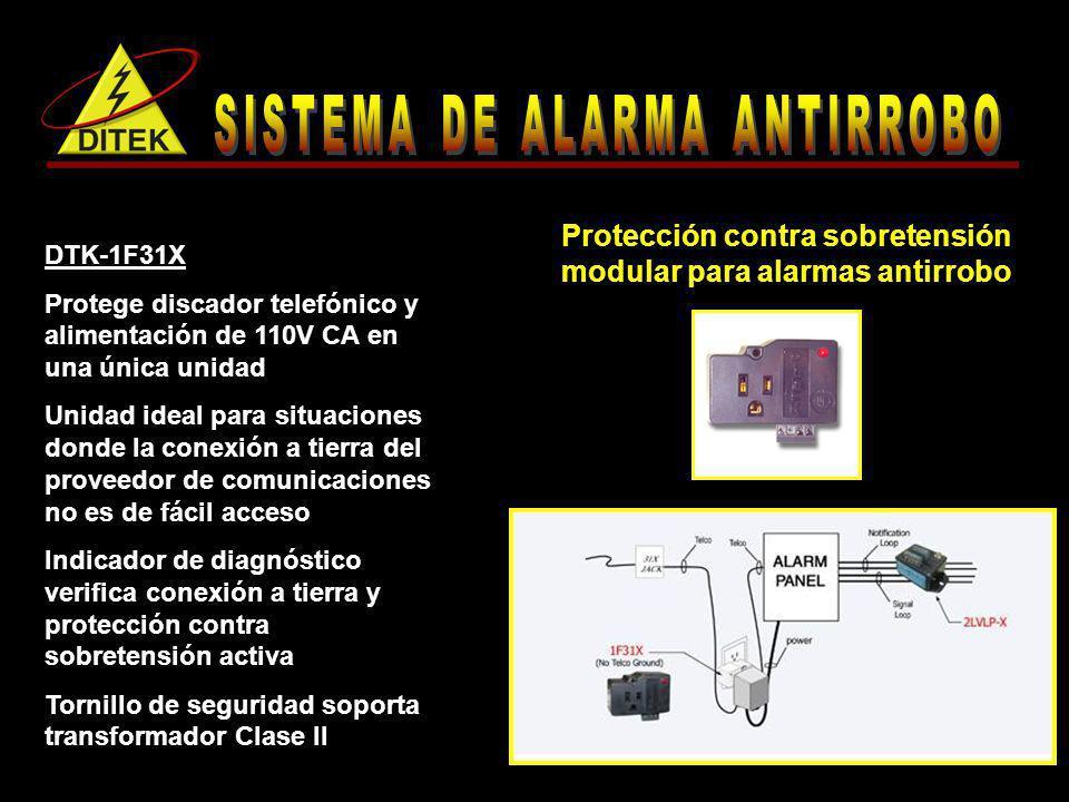 Protección contra sobretensión modular para alarmas antirrobo DTK-1F31X Protege discador telefónico y alimentación de 110V CA en una única unidad Unid