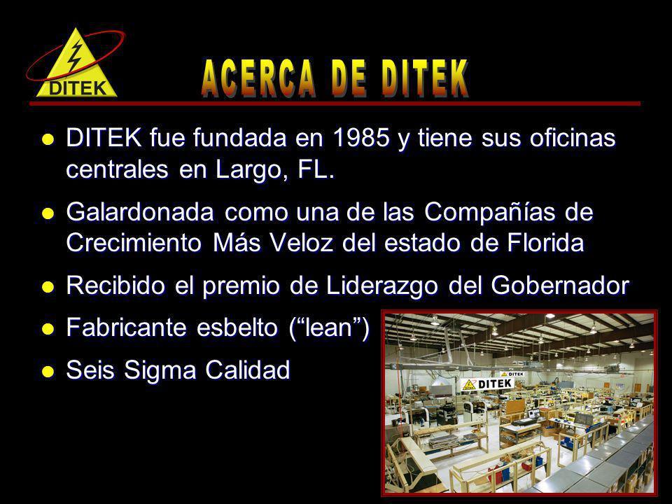 DITEK fue fundada en 1985 y tiene sus oficinas centrales en Largo, FL. DITEK fue fundada en 1985 y tiene sus oficinas centrales en Largo, FL. Galardon