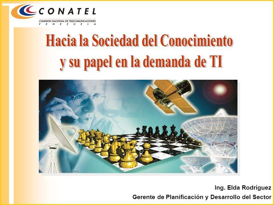 Ing. Elda Rodríguez Gerente de Planificación y Desarrollo del Sector