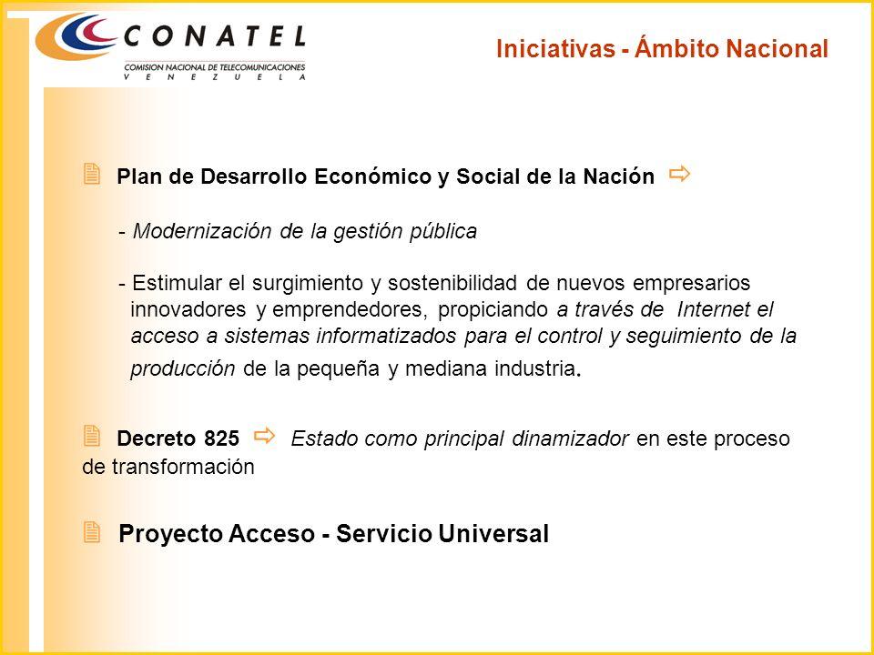 Iniciativas - Ámbito Nacional Plan de Desarrollo Económico y Social de la Nación - Modernización de la gestión pública - Estimular el surgimiento y so