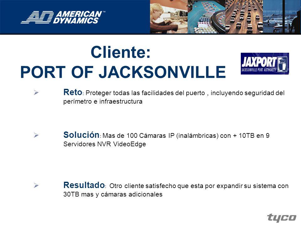 Cliente: PORT OF JACKSONVILLE Reto : Proteger todas las facilidades del puerto, incluyendo seguridad del perímetro e infraestructura Solución : Mas de