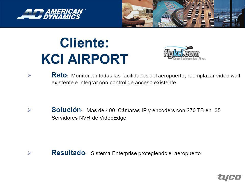 Cliente: KCI AIRPORT Reto : Monitorear todas las facilidades del aeropuerto, reemplazar video wall existente e integrar con control de acceso existent