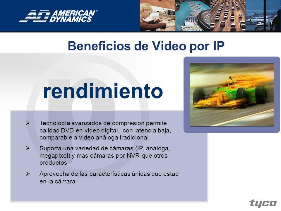 p rendimiento Tecnología avanzados de compresión permite calidad DVD en video digital, con latencia baja, comparable a video análoga tradicional Supor