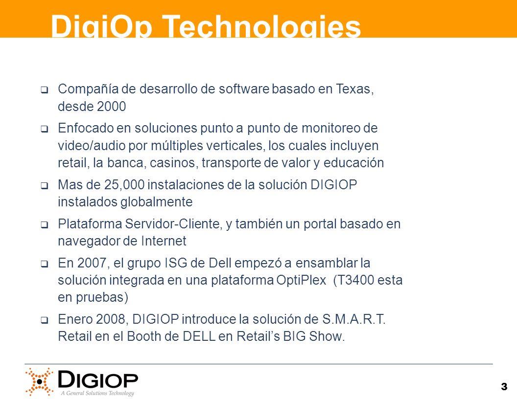 3 Compañía de desarrollo de software basado en Texas, desde 2000 Enfocado en soluciones punto a punto de monitoreo de video/audio por múltiples vertic