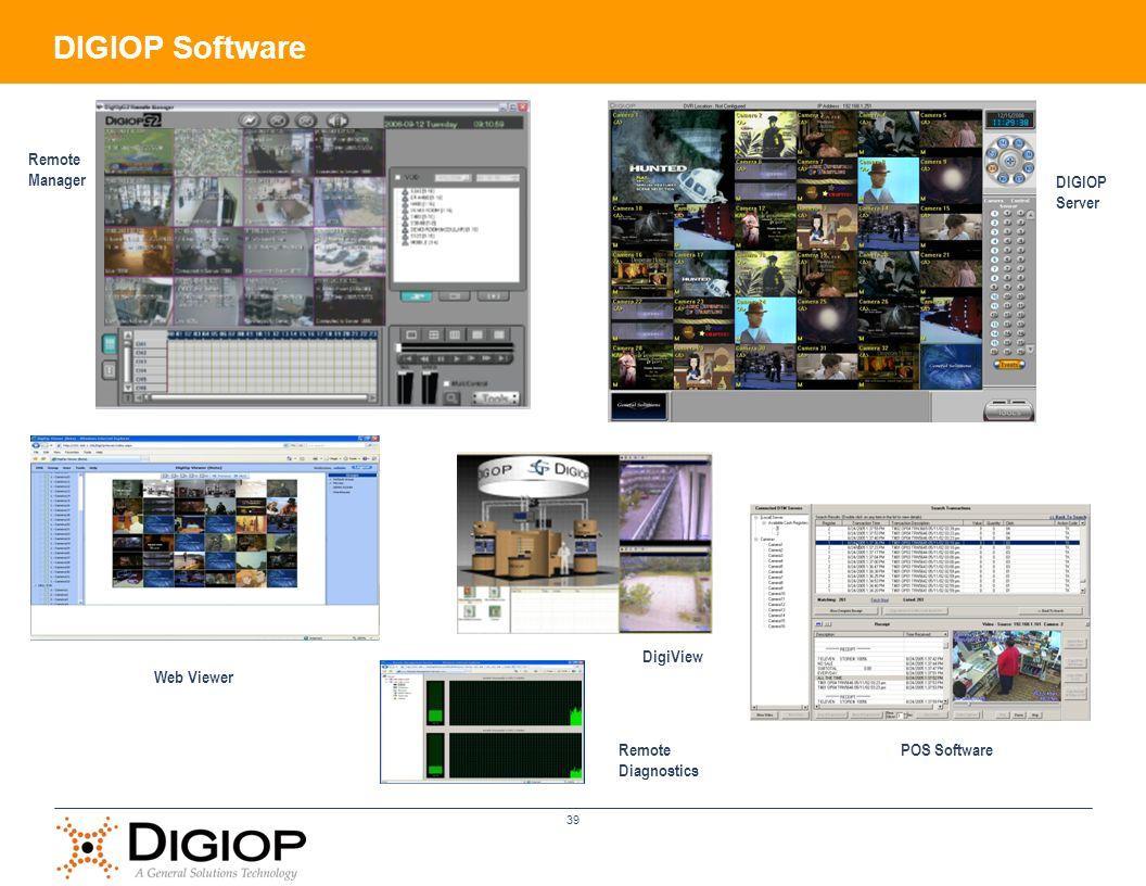 39 Remote Manager DIGIOP Server Web Viewer DigiView POS SoftwareRemote Diagnostics DIGIOP Software