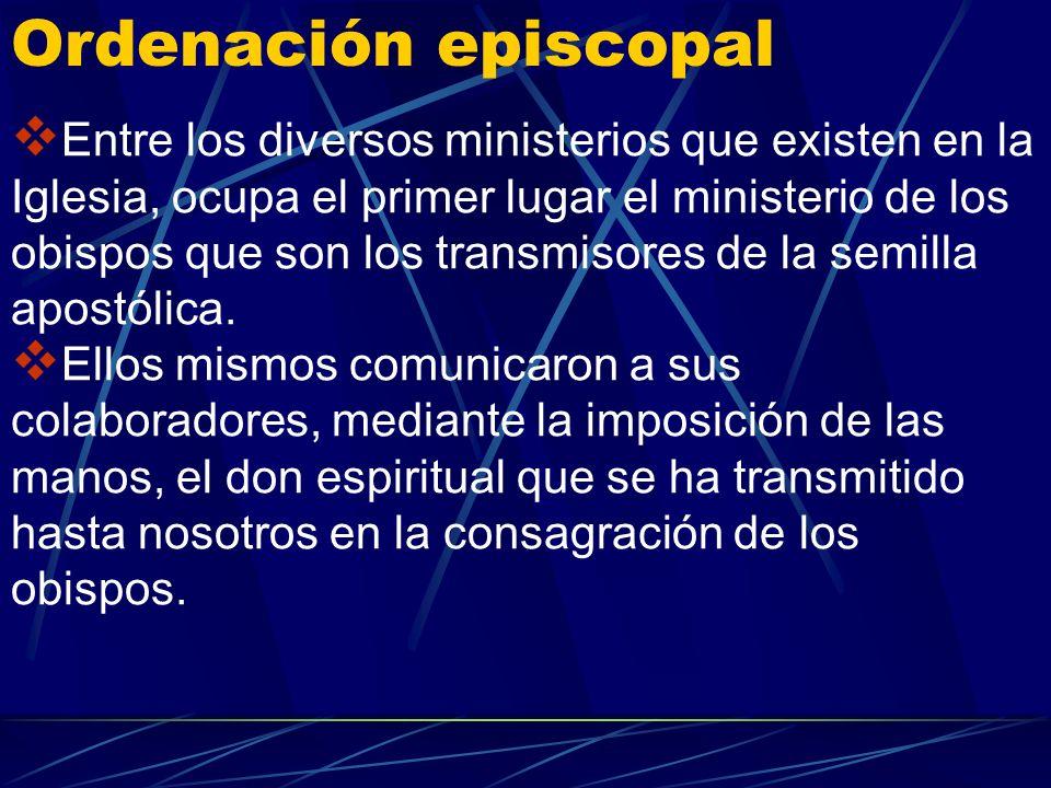 La doctrina católica enseña que los grados de participación sacerdotal [episcopado y presbiterado] y el grado de servicio [diaconado] son los tres con