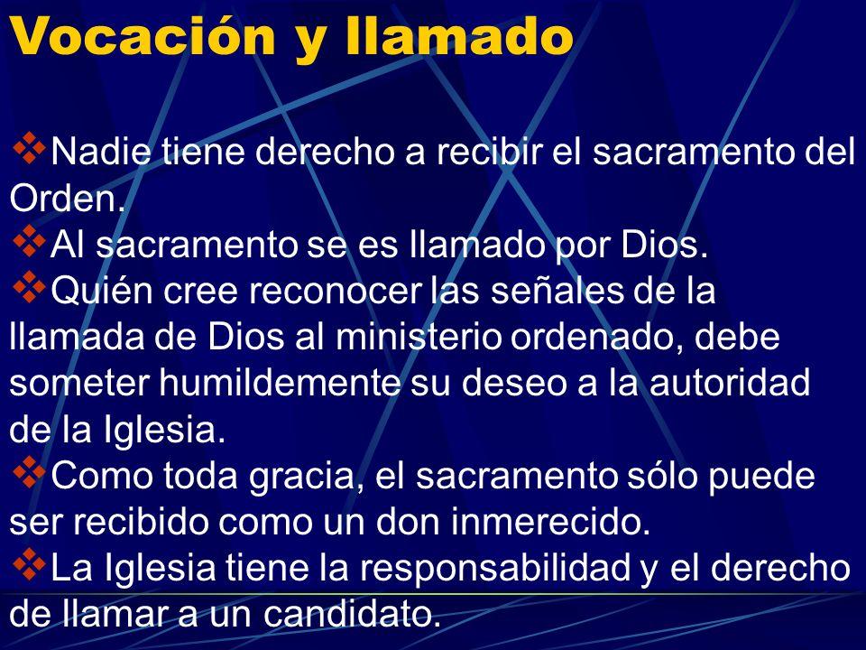 Sólo el varón bautizado recibe la sagrada ordenación. Jesús eligió a hombres para formar el colegio de los doce apóstoles, y los apóstoles hicieron lo