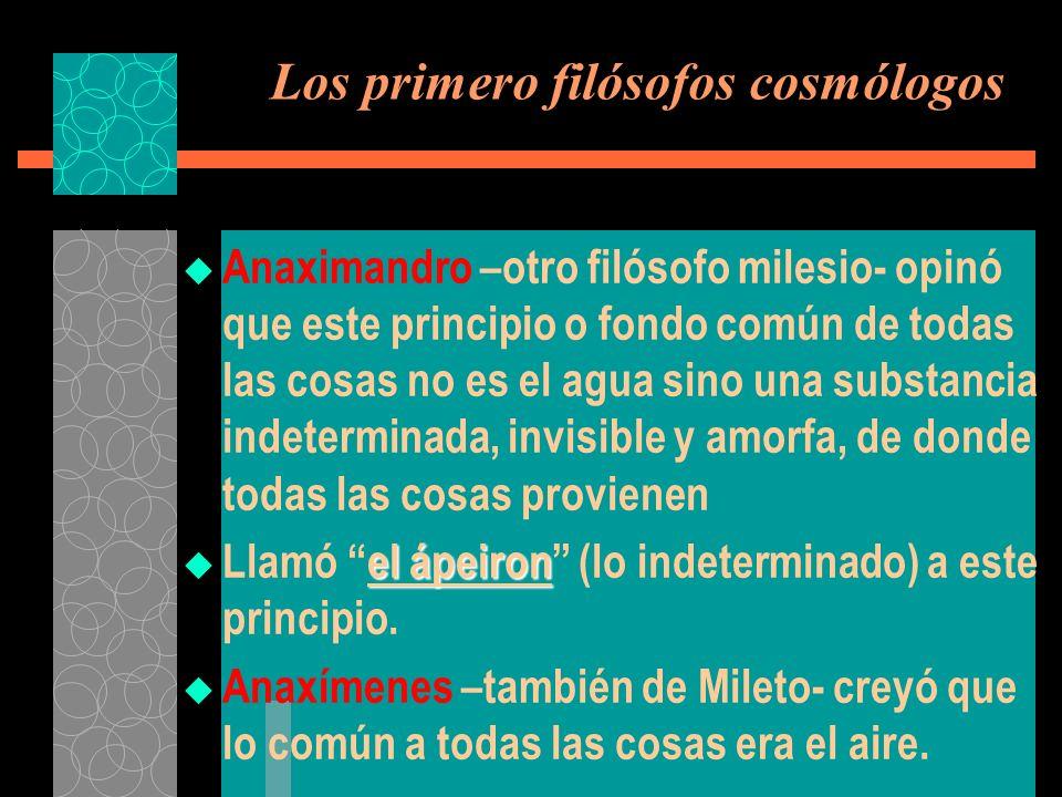 Heráclito y Parménides - Pitágoras y su Escuela ascienden al segundo grado o abstracción matemática.