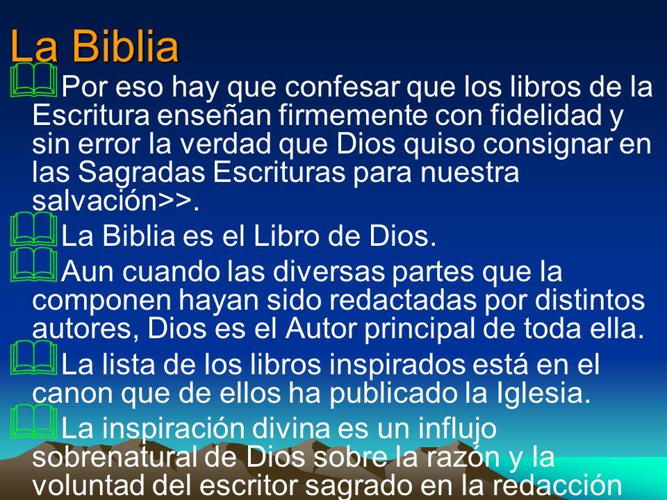 La Biblia Por eso hay que confesar que los libros de la Escritura enseñan firmemente con fidelidad y sin error la verdad que Dios quiso consignar en l