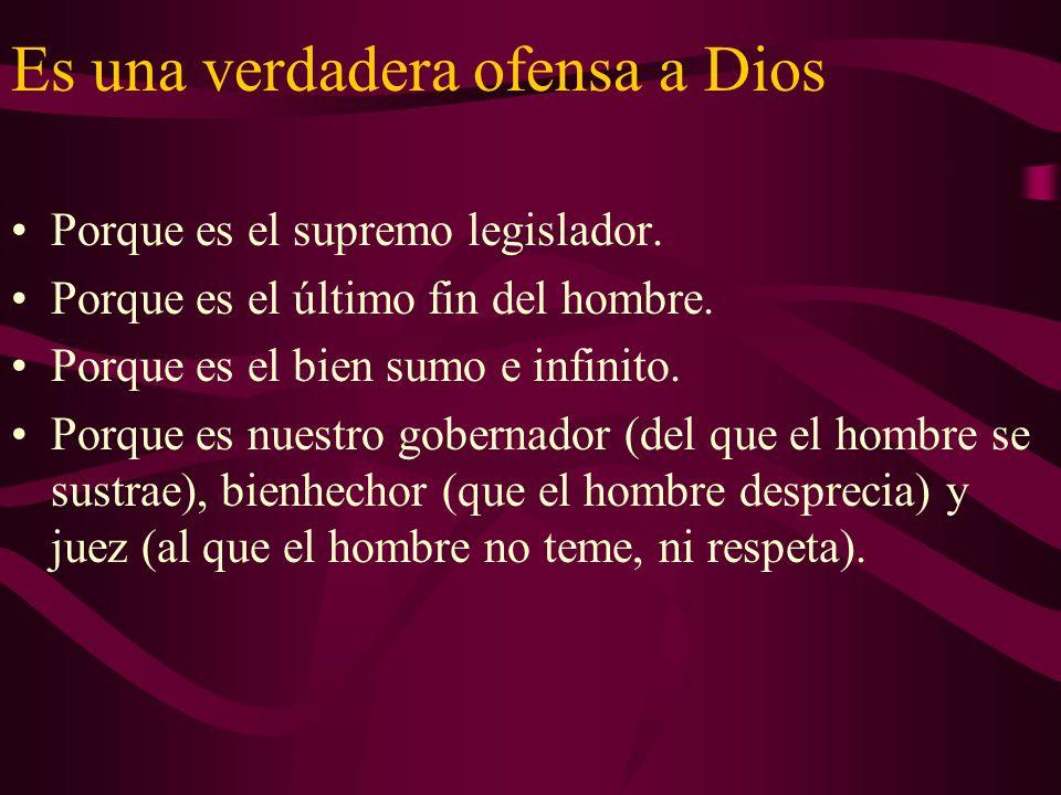Otros desórdenes que conlleva El pecado conlleva otros desórdenes: –1.