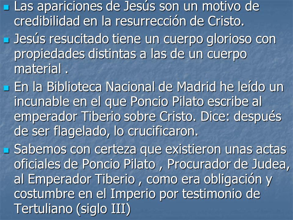 Las apariciones de Jesús son un motivo de credibilidad en la resurrección de Cristo. Las apariciones de Jesús son un motivo de credibilidad en la resu
