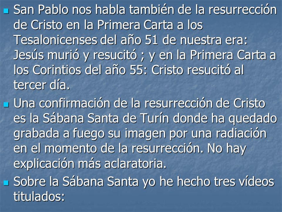 «La autenticidad de la Sábana Santa» «La autenticidad de la Sábana Santa» «La Sábana Santa y el Carbono-14» «La Sábana Santa y el Carbono-14» «La Sábana Santa y el Sudario de Oviedo».