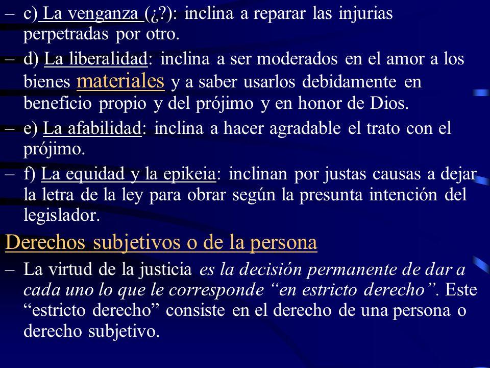 –El derecho subjetivo es la facultad moral o capacidad de hacer algo, tenerlo, exigirlo, etc.