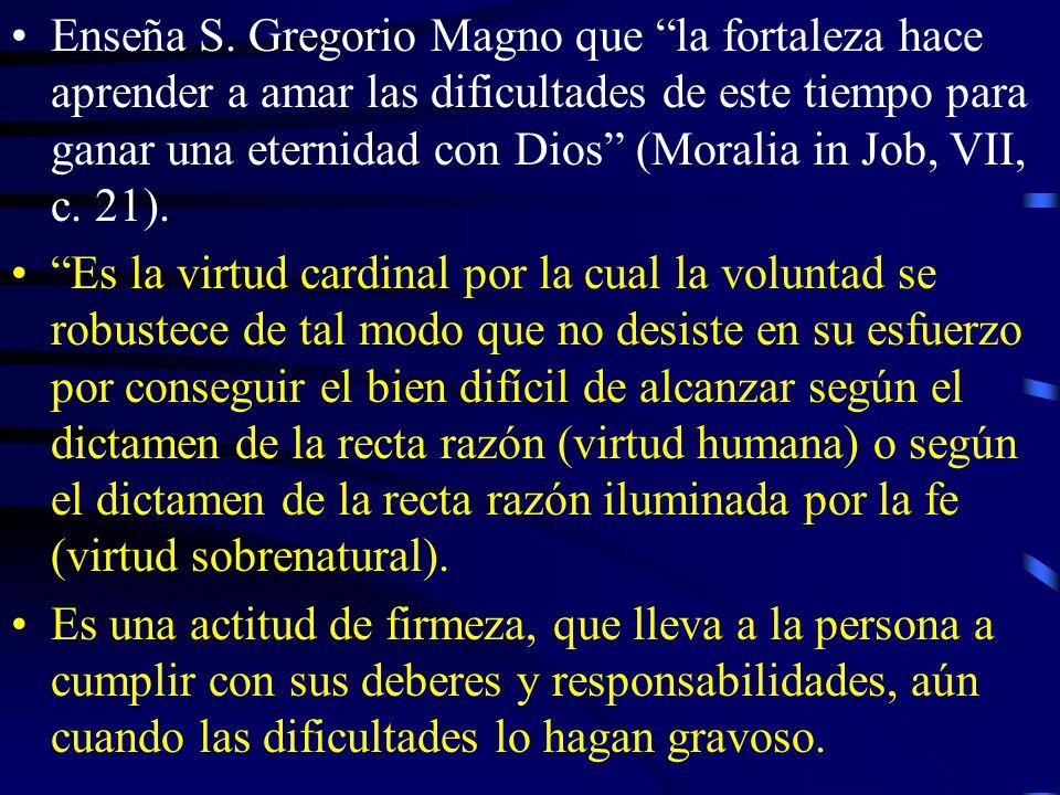 La vida cristiana es lucha...; por eso la virtud de la fortaleza tiene gran importancia.