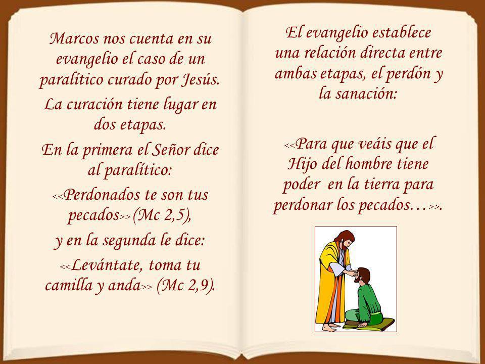 Marcos nos cuenta en su evangelio el caso de un paralítico curado por Jesús.