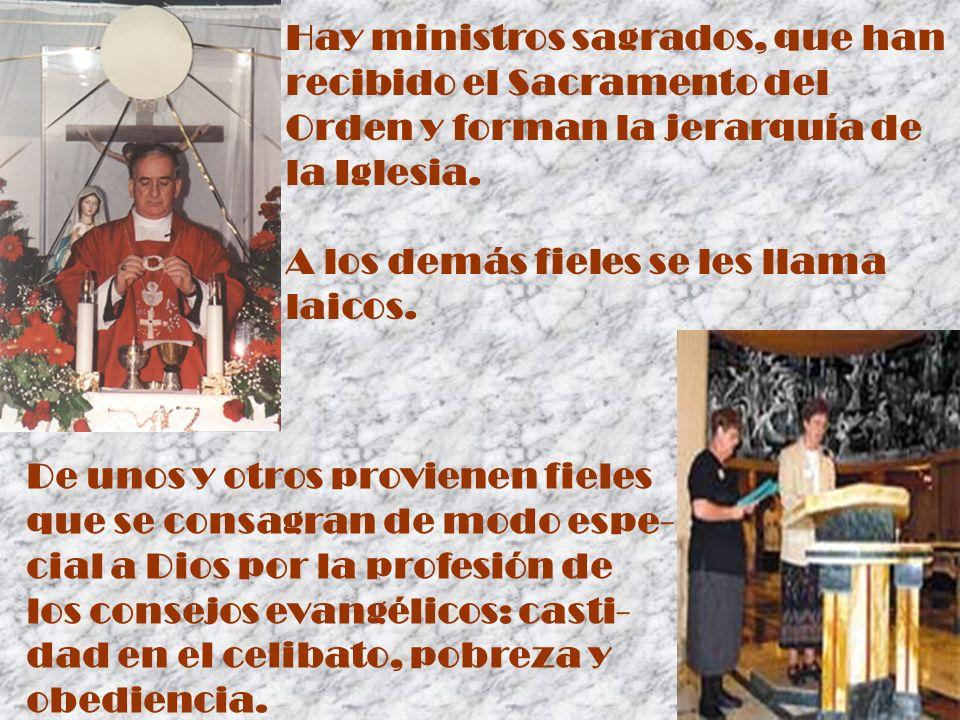 Cristo instituyó la jerar- quía eclesiástica con la misión de apacentar al Pueblo de Dios en su Nombre.