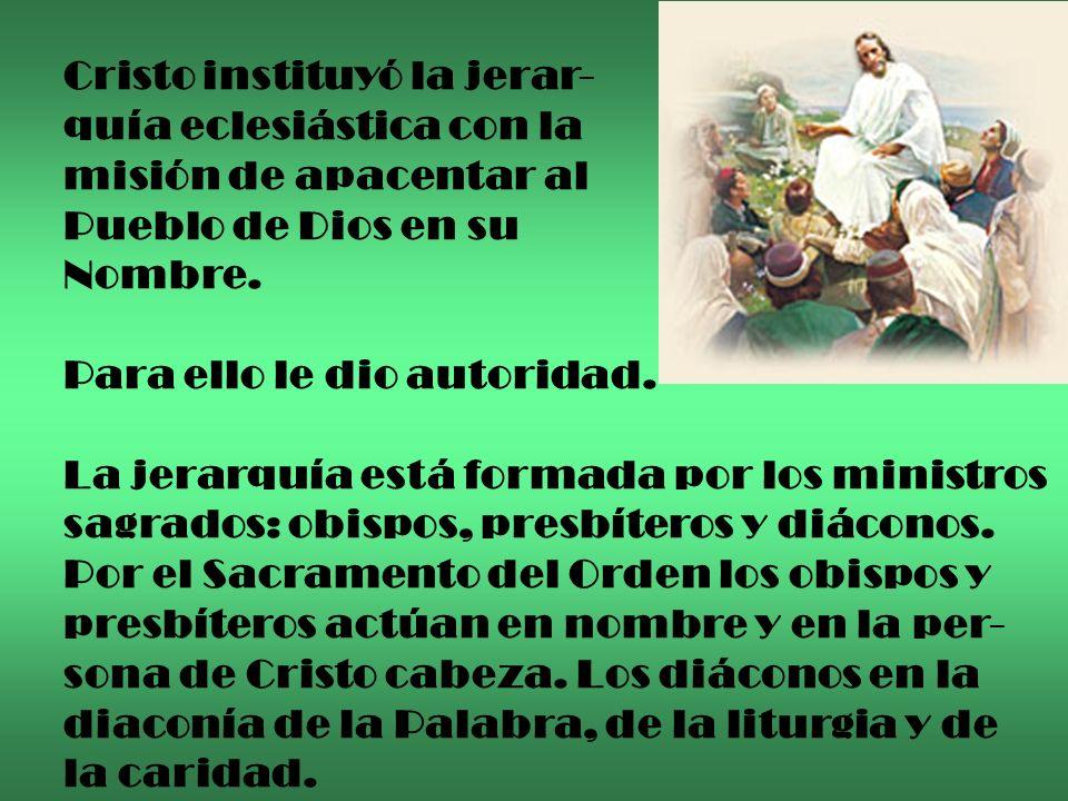A ejemplo de los doce Apóstoles, elegidos y enviados juntos por Cristo, la unión de los miembros de la jerar- quía eclesiástica está al servicio de la comu- nión de todos los fieles.