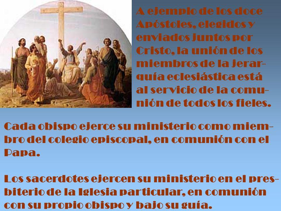 El ministerio eclesial tiene también un carácter personal, en cuanto que, en virtud del Sacramen- to del Orden, cada uno es responsable ante Cristo, que lo ha llamado personal – mente, confiriéndole la misión.