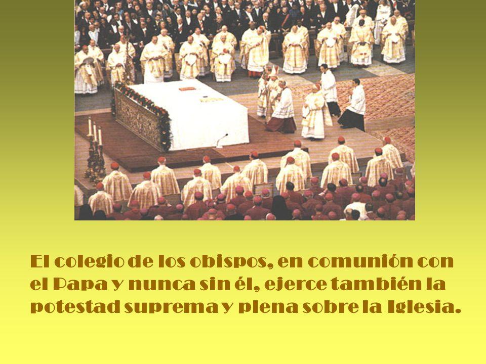 Los obispos, en comu.nión con el Papa, tie.