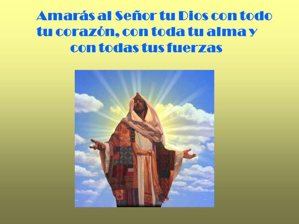 Amarás al Señor tu Dios con todo tu corazón, con toda tu alma y con todas tus fuerzas