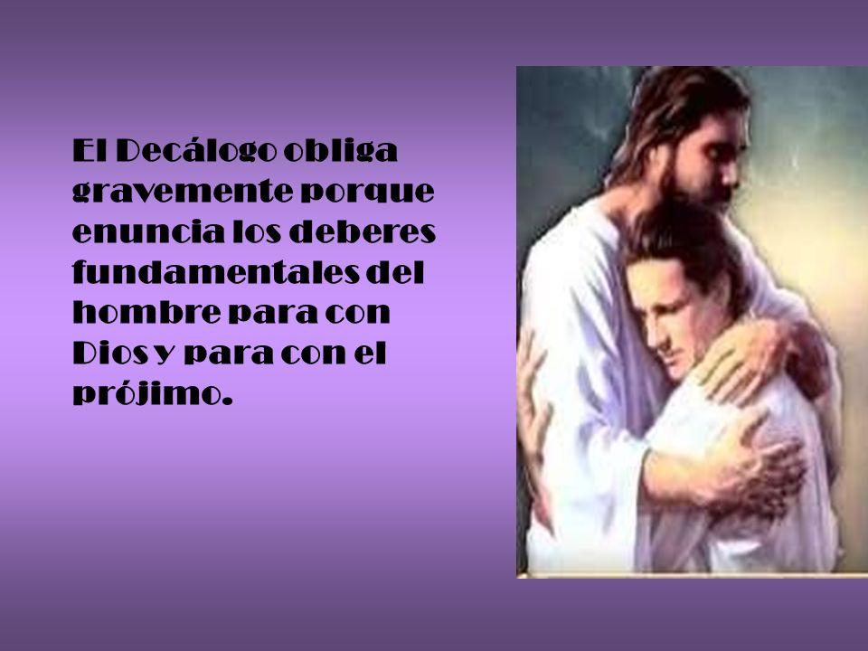 Sí, es posible cumplir el Decálogo, porque Cristo, sin el cual nada podemos hacer, nos hace capaces de ello con el don del Espíritu Santo y de la gracia.