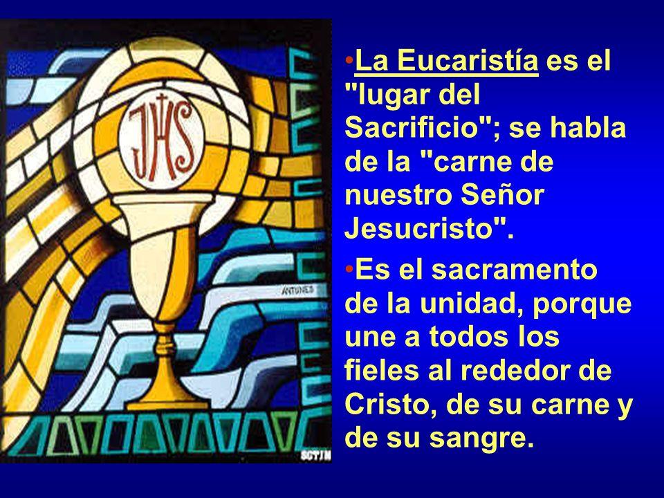 La Eucaristía es el