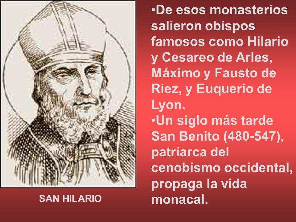 De esos monasterios salieron obispos famosos como Hilario y Cesareo de Arles, Máximo y Fausto de Riez, y Euquerio de Lyon. Un siglo más tarde San Beni