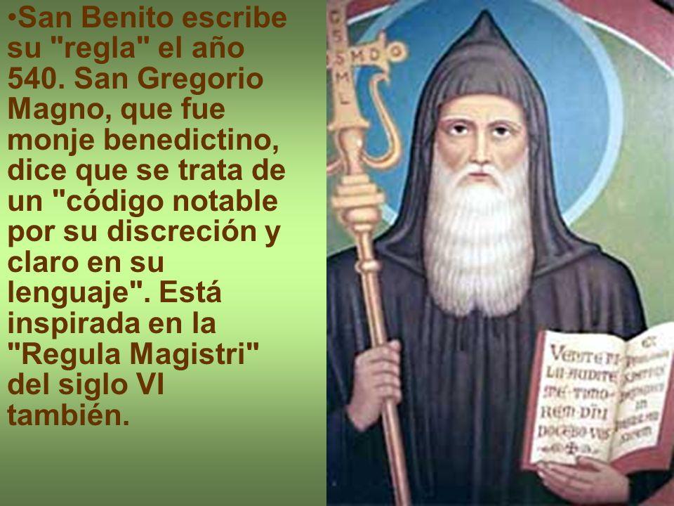 San Benito escribe su