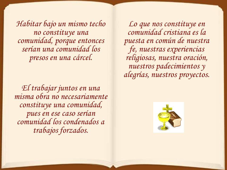 La comunión en los bienes espirituales (Rom 15,27) debe extenderse también a todos los bienes (Gál 6,6), incluidas las necesidades y los bienes materi
