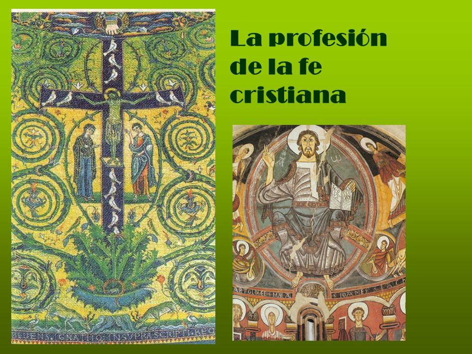 Los símbolos de la fe Los símbolos de la fe, también llamados profesiones de fe o Credo, son fórmulas articuladas con las que la Iglesia ha expresado sintéti- camente la propia fe.