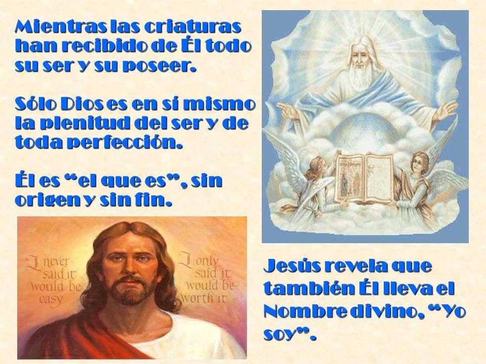 La Sagrada Escritura dice: En el principio creó Dios el cielo y la tierra ( Génesis 1,1 ).
