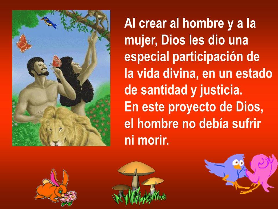 Al crear al hombre y a la mujer, Dios les dio una especial participación de la vida divina, en un estado de santidad y justicia. En este proyecto de D