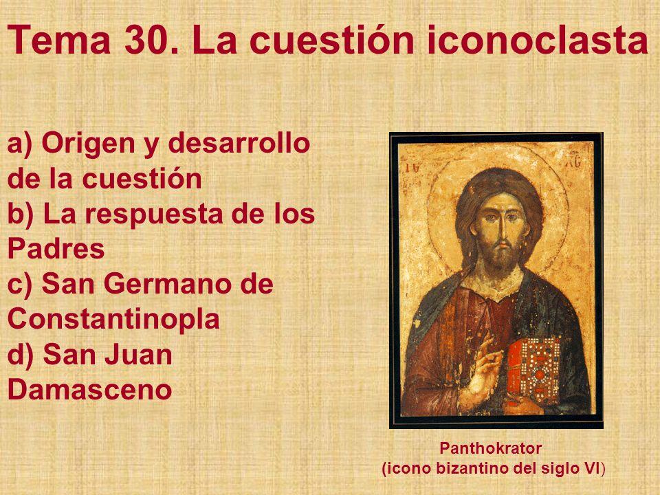 a) Origen y desarrollo de la cuestión En la cuestión de las imágenes, la primera lucha dura se presentó entre los años 726 y 843.