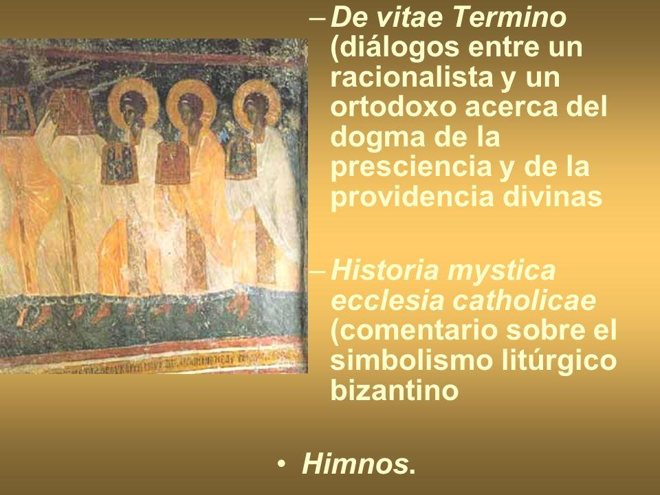 –De vitae Termino (diálogos entre un racionalista y un ortodoxo acerca del dogma de la presciencia y de la providencia divinas –Historia mystica eccle