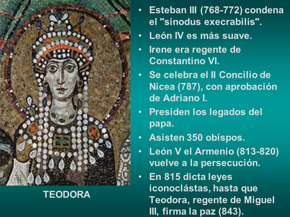 Esteban III (768-772) condena el