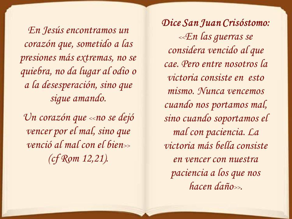 Lo que se nos ofrece como espectáculo de contemplación en la cruz es el del único amor humano que no tuvo ningún límite, el de aquel que > (Jn 13,1).