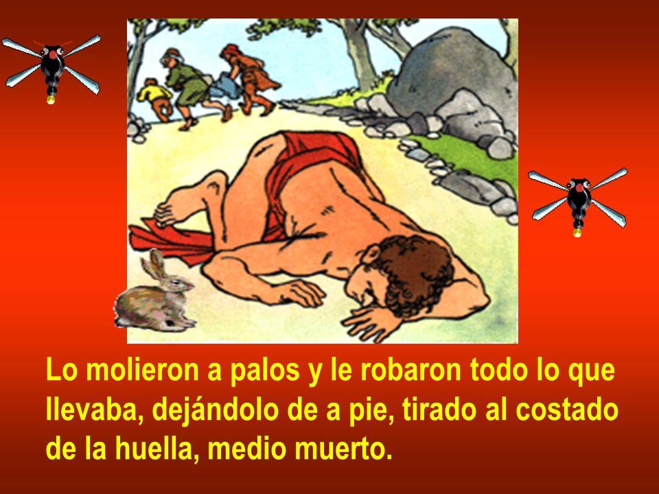 Lo molieron a palos y le robaron todo lo que llevaba, dejándolo de a pie, tirado al costado de la huella, medio muerto.