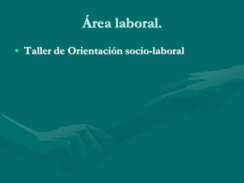 Área laboral. Taller de Orientación socio-laboralTaller de Orientación socio-laboral